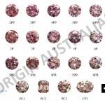 ORIGIN AUSTRALIA Digital Pink Diamond Colour Chart