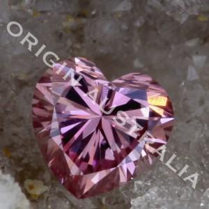 ORIGIN AUSTRALIA PINK DIAMOND Argyle Heart